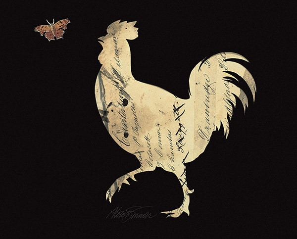 Silhouette Rooster
